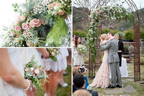 A Romantic Wedding with a Pink Wedding Dress: Lauren   Dan