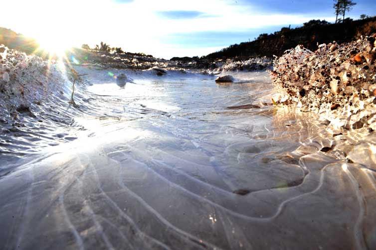 A água congelou em São José dos Ausentes:imagem 3