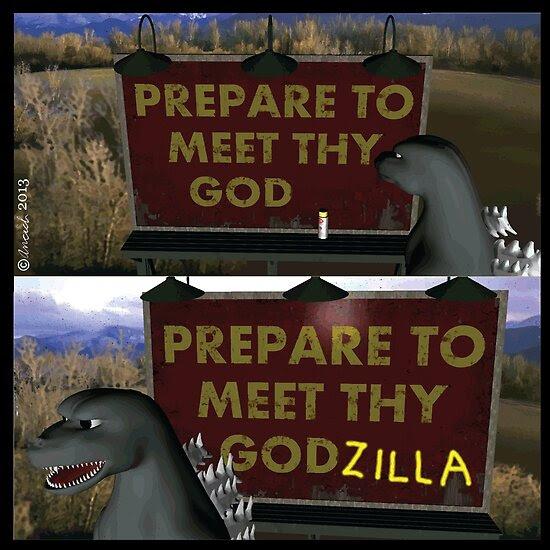 Past Expiry Cartoon : Minor Destruction by Godzilla