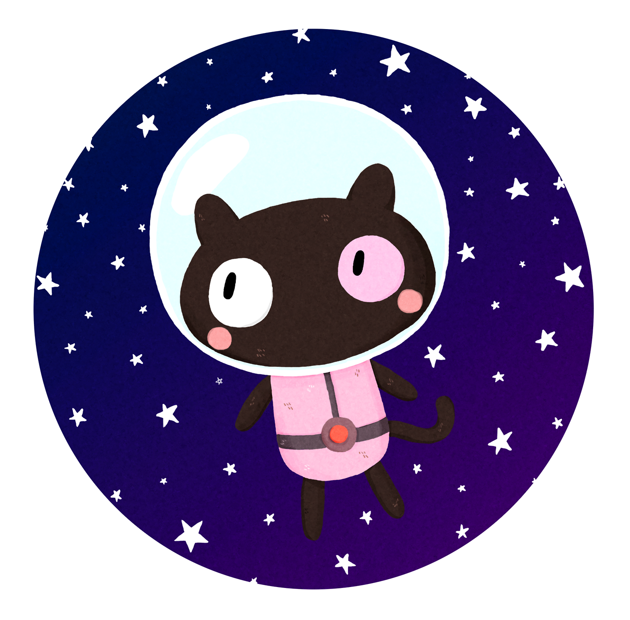 a little cookie cat in space :)