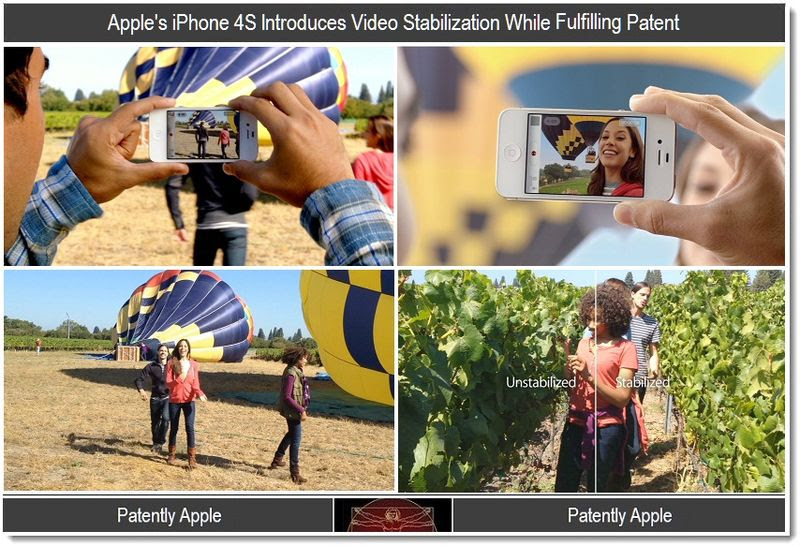 2 - Video stablization in iPhone 4S, fullfils patent