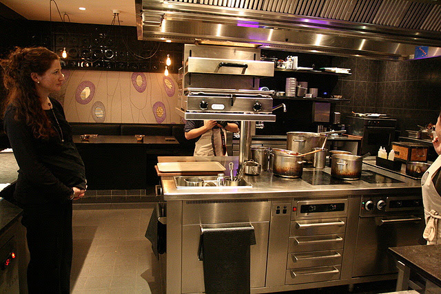 Becasse has a more compact kitchen because it only does degustation menus