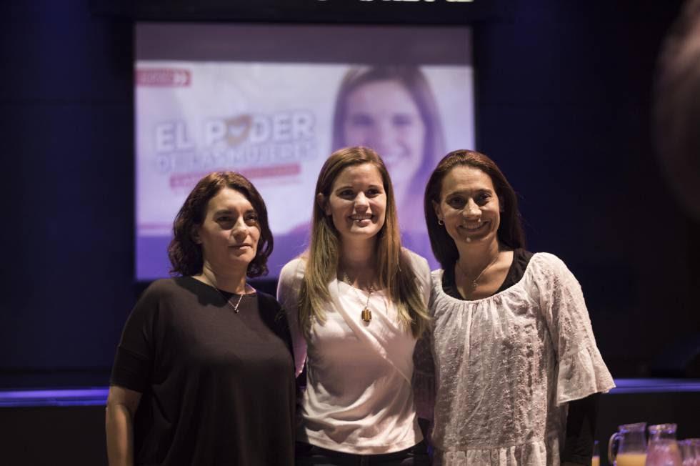 De izq a dcha: Gabriela Durruty, Caren Tepp y Beatriz Priotti, candidatas de Ciudad Futura.