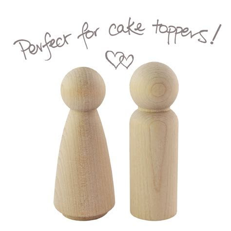 Unfinished wood cake topper people peg dolls   UK online shop
