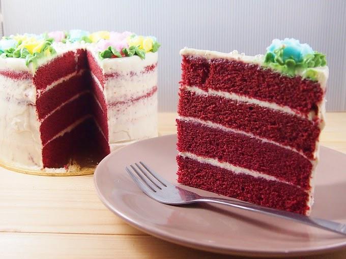 Kek Red Velvet Lebih Gebu dan Sedap!