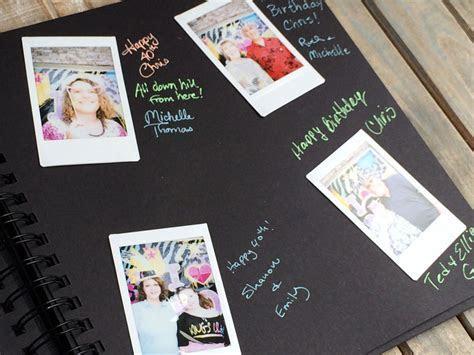 Polaroid guest book album   Chica and Jo