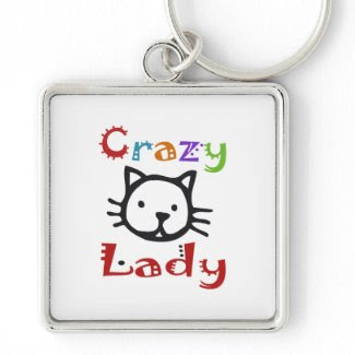 Crazy Cat Lady Key Chains