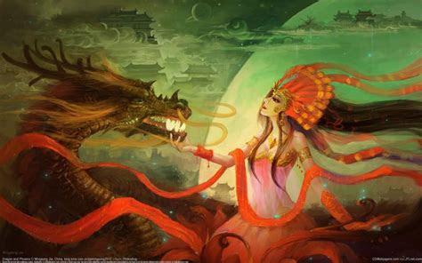 hd dragon  phoenix wallpaper