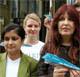 Shami Chakrabarti and Janis Sharp at US Embassy