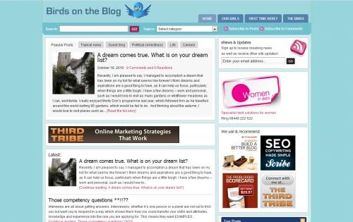 Birds on the Blog