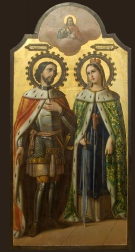 Благоверный Александр Невский и царица Александра Римская.