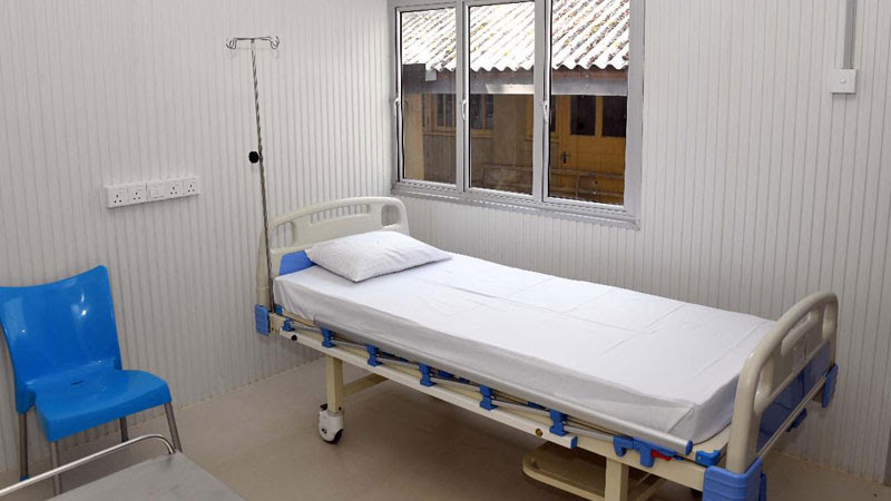 Air Force hands over newly constructed isolation unit