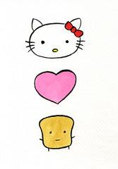 Hello Kitty Loves Mr Toast