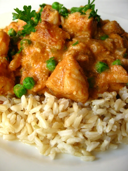 Chicken with Curried Tomato Almond Sauce