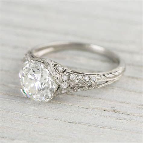 2.04 Carat Vintage Tiffany & Co. Diamond Engagement Ring