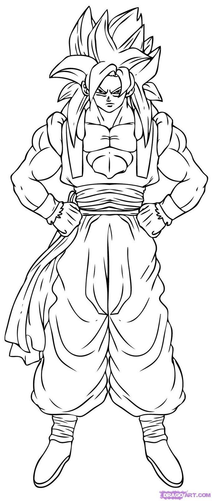 Dibujos De Dragon Ball Z Super Sayayin 9 Para Colorear