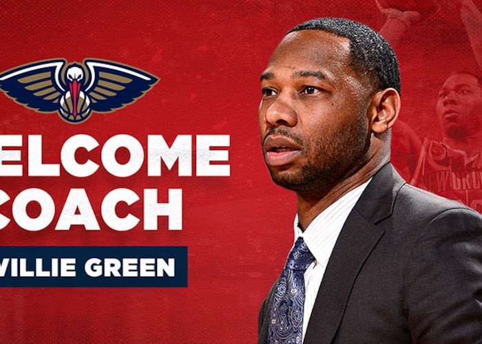 Willie Green named New Orleans Pelicans head coach   New Orleans Pelicans