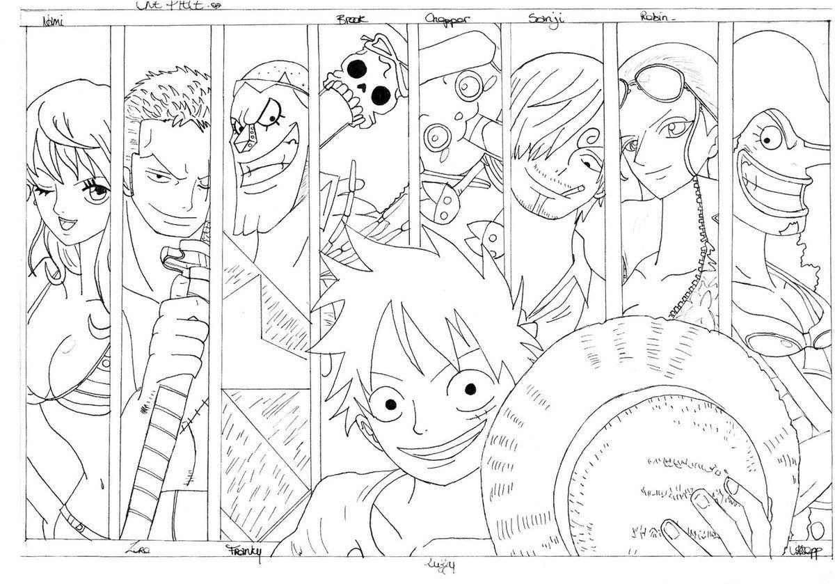 Frais Coloriage One Piece Luffy 2 Ans Plus Tard A Imprimer