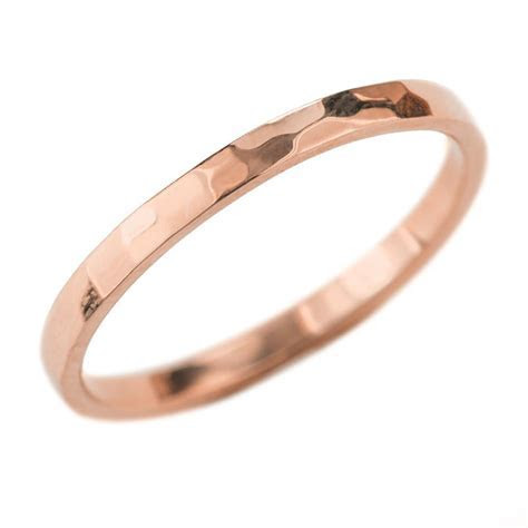 2mm Wide x 1.5mm Thick,14k Rose Gold Rectangle Wedding