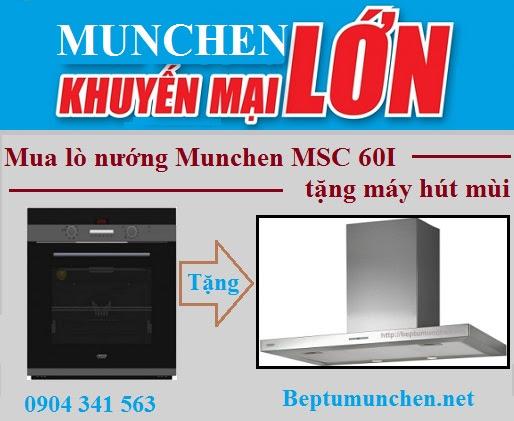 Mua lò nướng Munchen MSC 60I nhận khuyến mại lớn