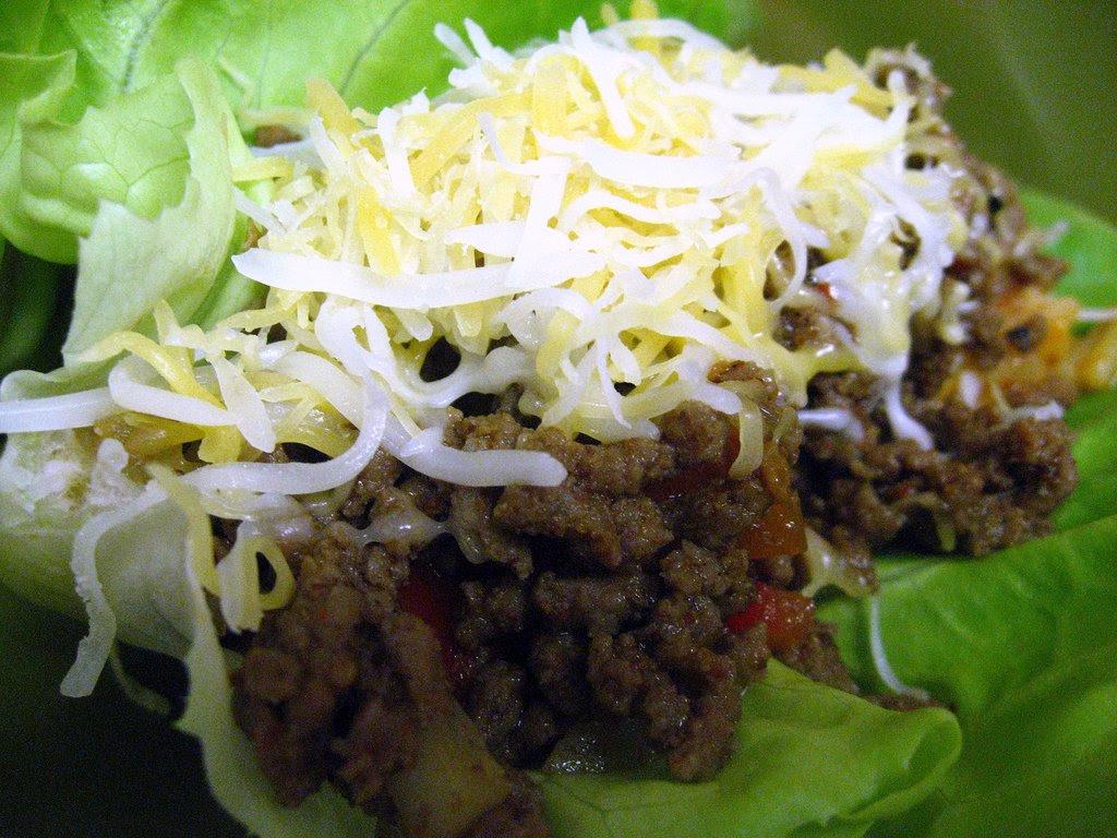 lettuce wrap taco with homemade seasoning