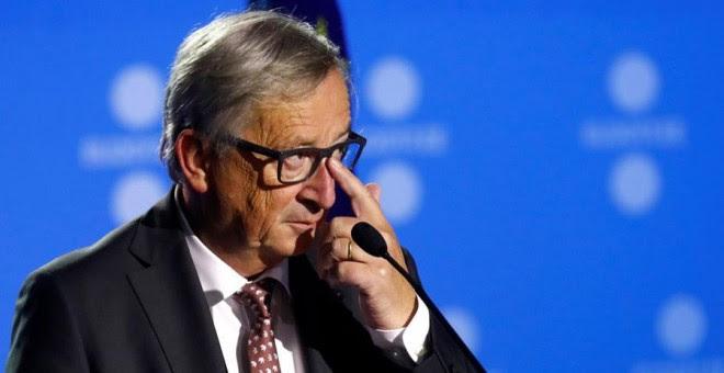 Juncker, en Tallín este viernes. REUTERS/Ints Kalnins