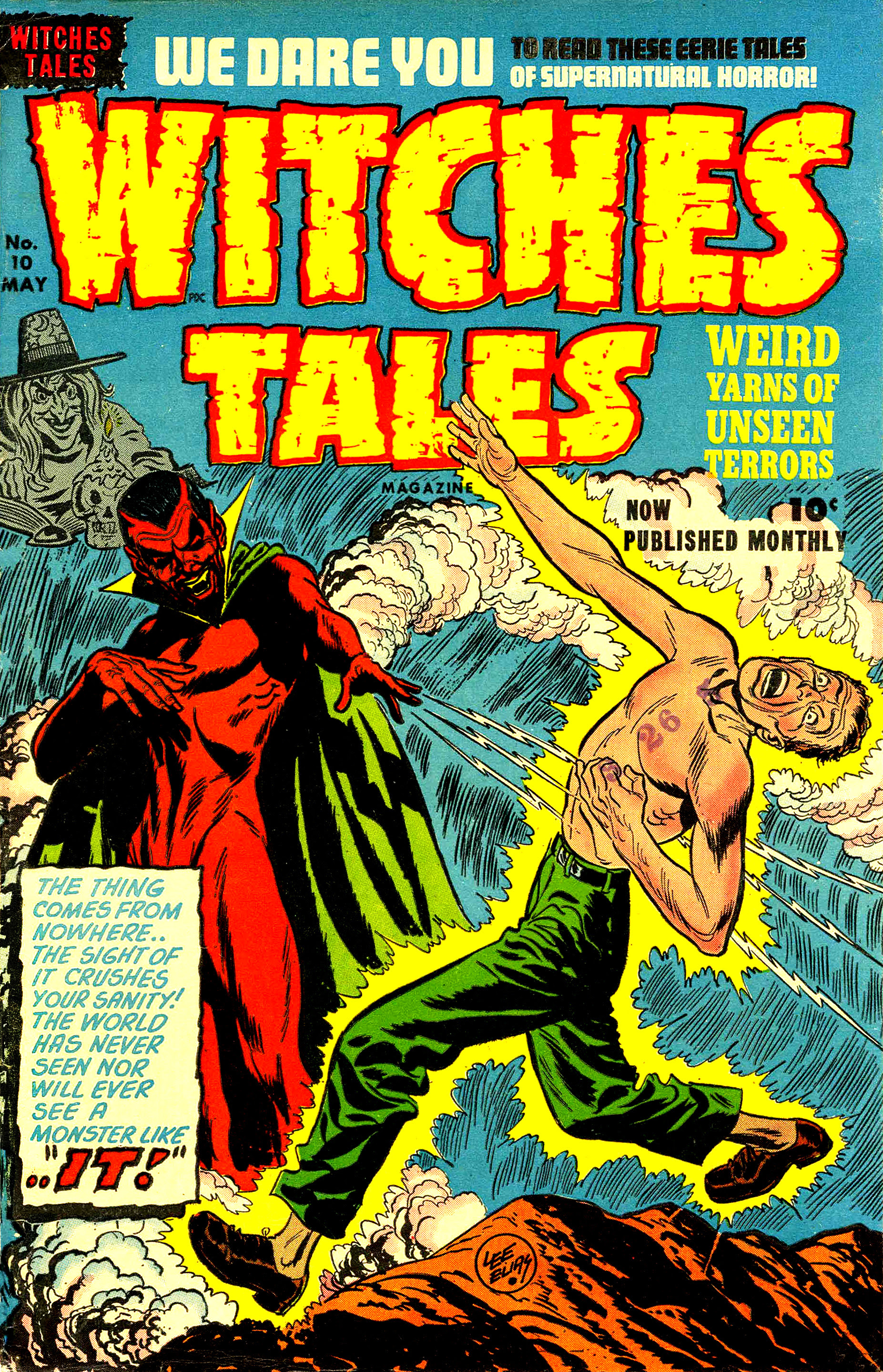 Witches Tales #10, Lee Elias Cover (Harvey, 1952)