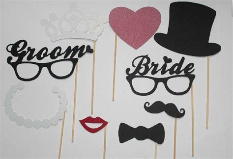 Wedding Party Photography Photo Booth Props Mustache On A