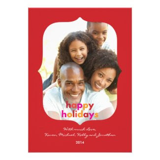 Ornate Frame Modern Holiday Photo Card