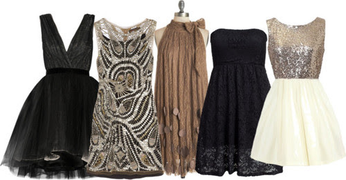 Holiday Party Dress Ideas Black Glitter Silver Gold