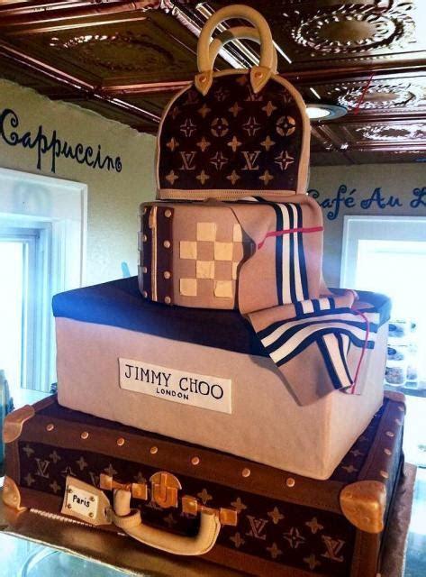 Louis Vuitton 4 Tier Handbag & Suitcase Cake for Women