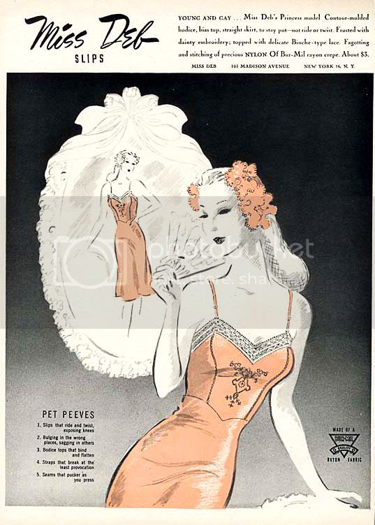 vintage slip lingerie advertisement