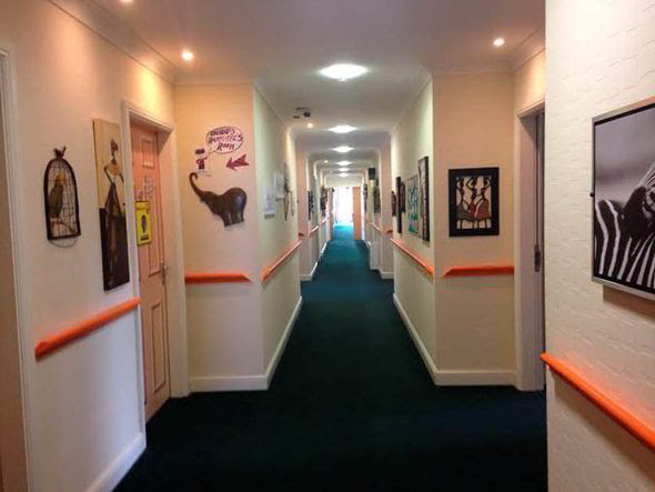The care home used art to help calm residents