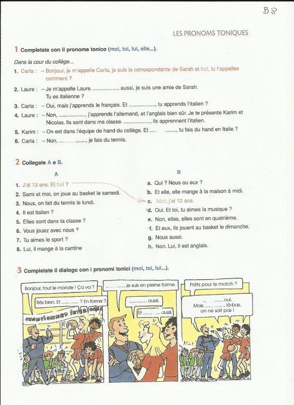 Zaimki akcentowane - ćwiczenie 1 - Francuski przy kawie