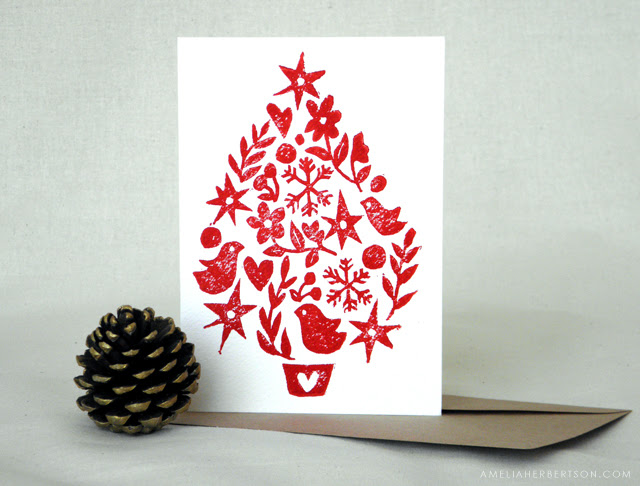 Christmas card: Tree