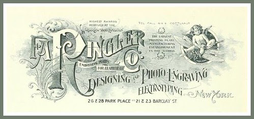 Vintage Advert for F A Ringler & Co., New York Engravers 1895 by CharmaineZoe