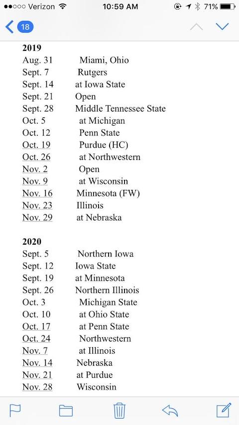 Illinois Football Schedule 2020