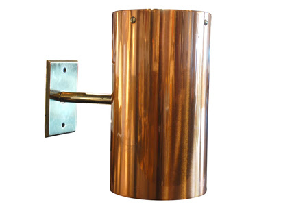 Machine Age   Set of 6 Custom Copper and Brass Sconces