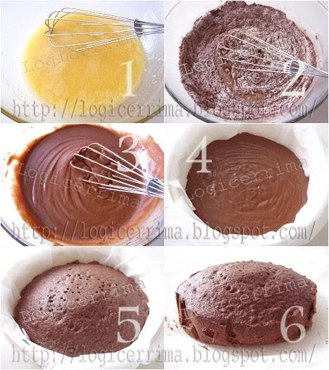 [ Torta al Cacao con Microonde - ricetta fotografata ]