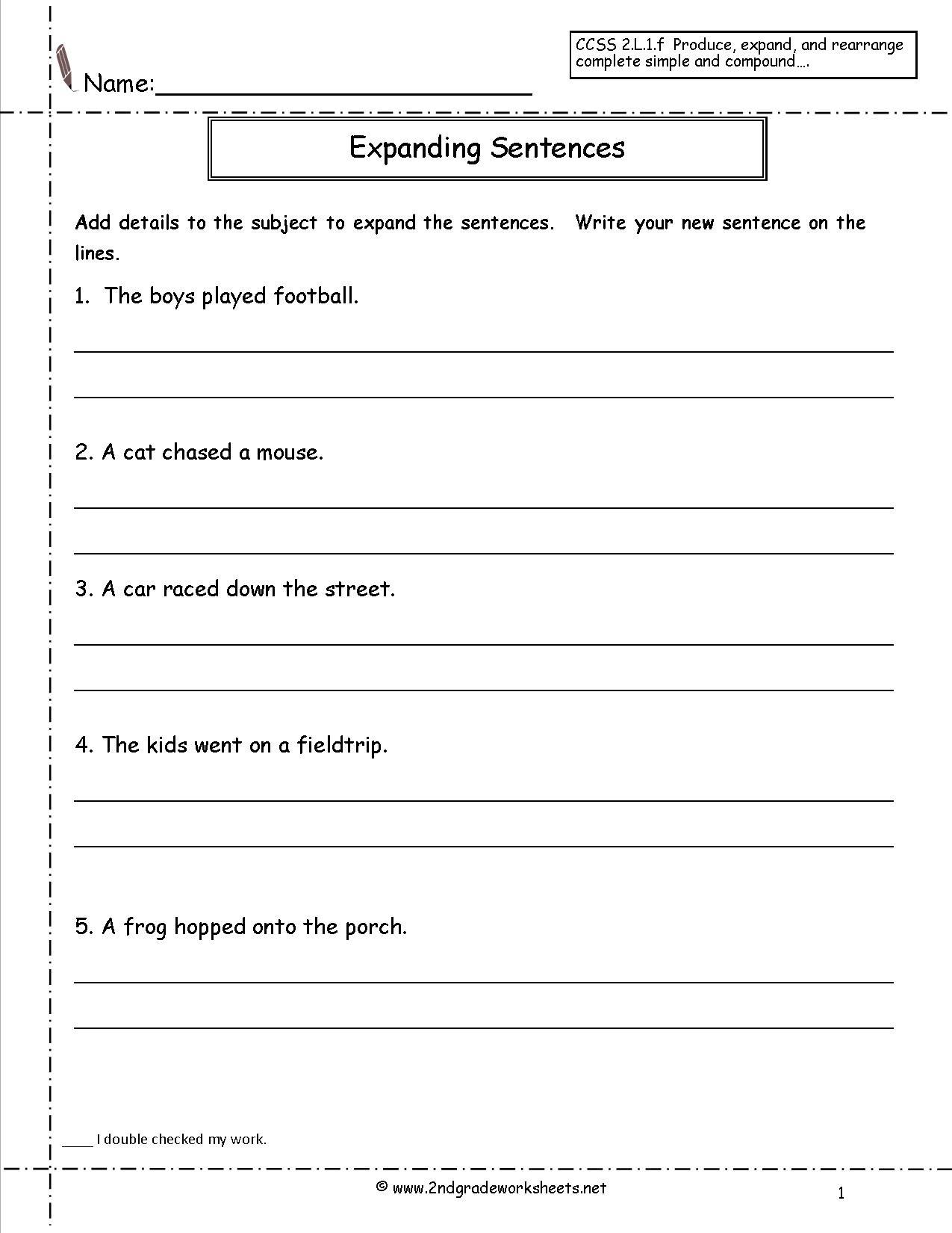 expanding sentences worksheet_211439