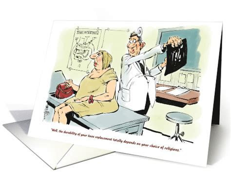 Funny knee replacement feel better for church goer cartoon