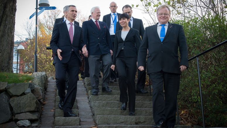 NATO Secretary General Jens Stoltenberg and the Nordic Ministers of Defence