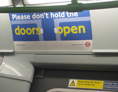Please don't hold the doors open