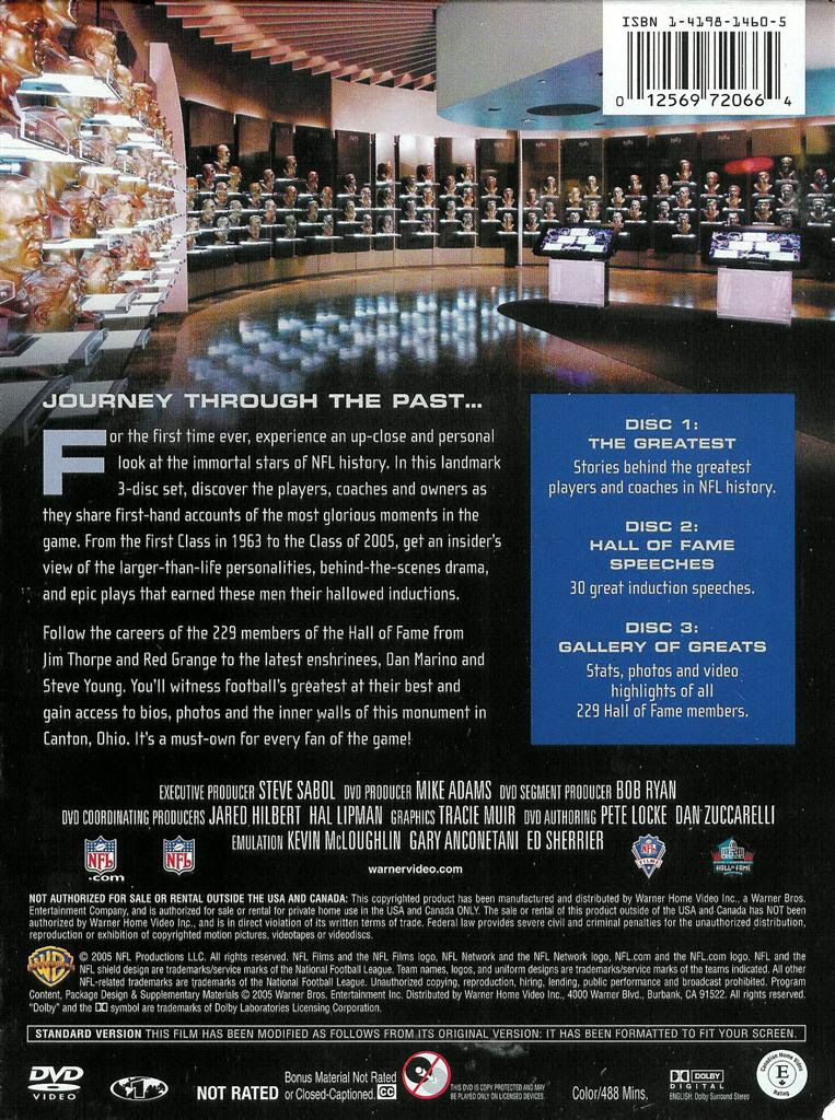 NFL ~ Pro Football Hall of Fame ~ 85 Years of Greatness ~ 3Disc DVD Set 12569720664 eBay