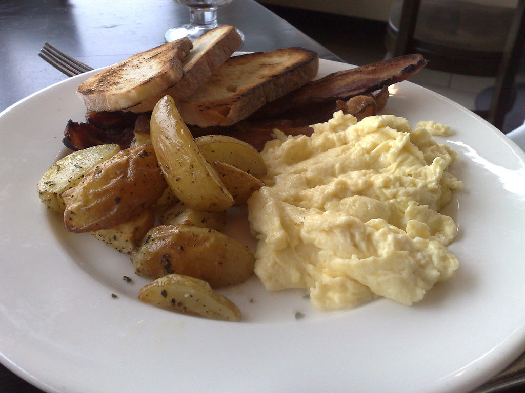 Scrambled Eggs with Applewood Smoked Bacon