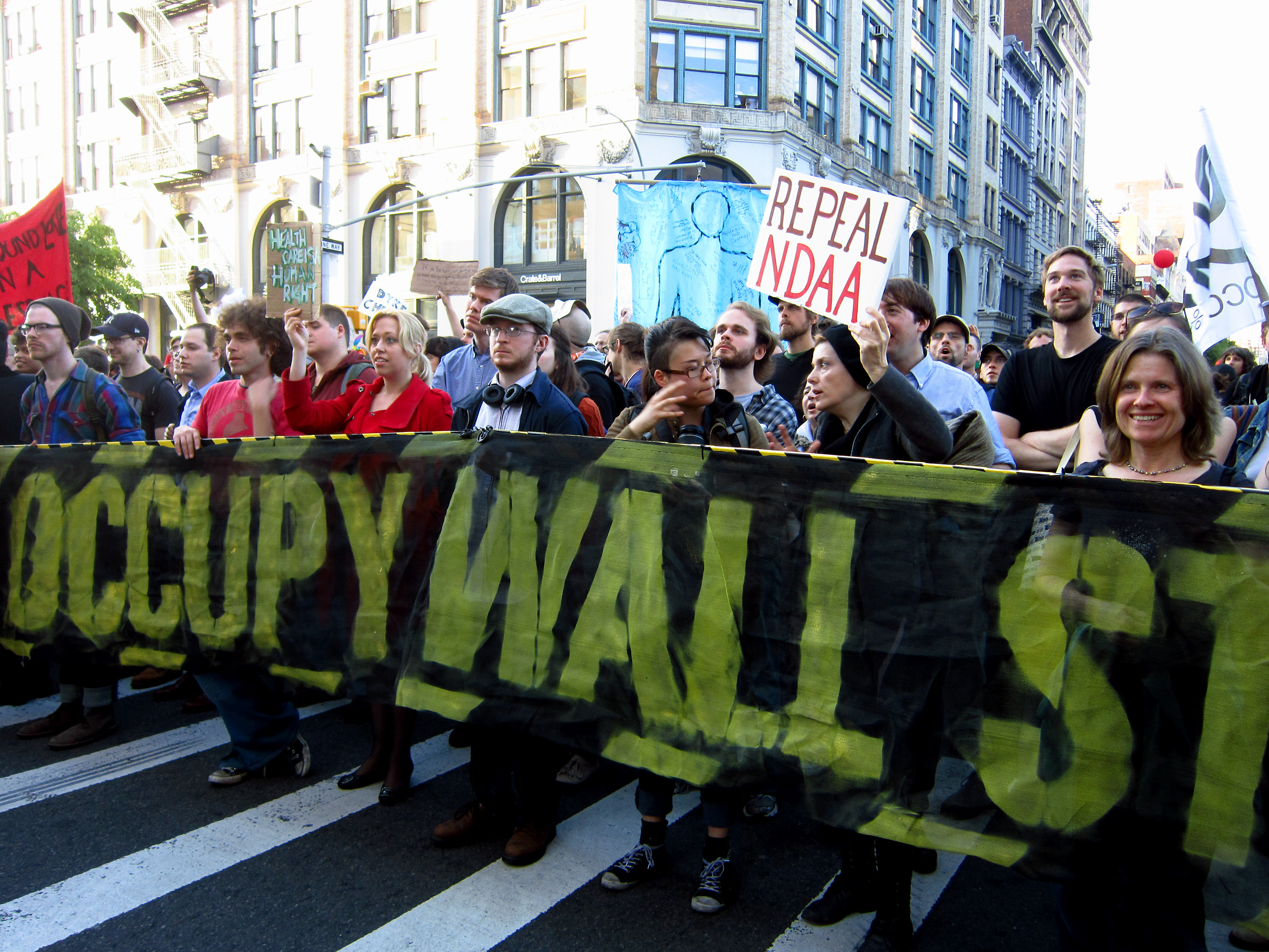 May Day march on Wall Street