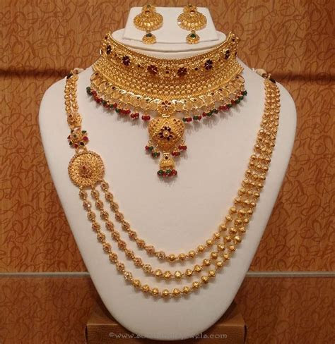 Light Weight Bridal Necklace sets from NAJ   Indian bridal