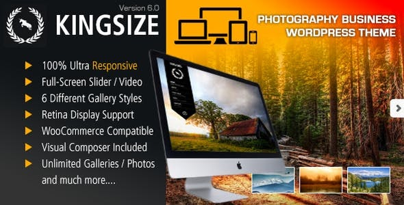 King Size v6.0 - Fullscreen Background WordPress Theme