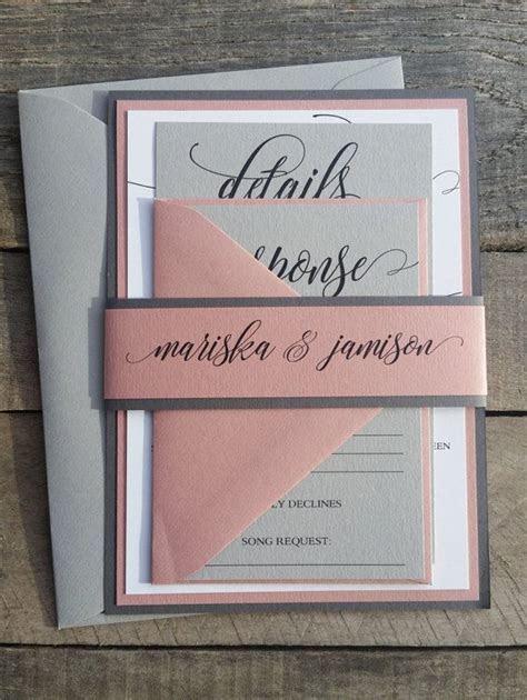 Dusty Rose Wedding Invitations, Mauve Wedding Invitations