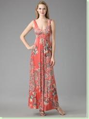 elie tahari deanna floral maxi dress